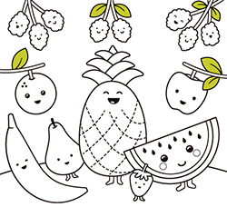 - Food Coloring Pages