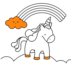 Unicorns - Free printable Coloring pages for kids | 450x494