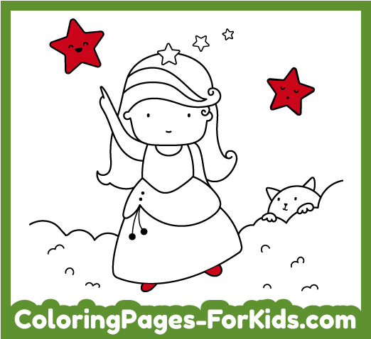 Princess online and printable coloring pages