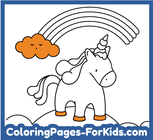 Online Unicorn Coloring Pages